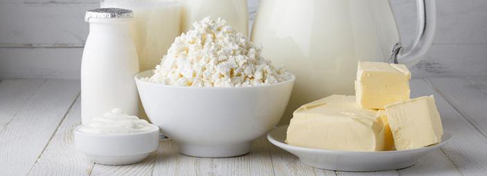 dettaglio di formaggi e latte