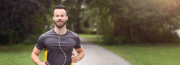 atleta che pratica sport: la corsa